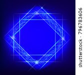 glow frame. square borders with ... | Shutterstock .eps vector #796783606