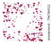 valentines day vector confetti... | Shutterstock .eps vector #796784512