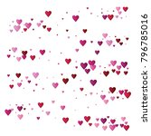 valentines day vector confetti... | Shutterstock .eps vector #796785016