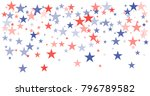 patriotic american stars... | Shutterstock .eps vector #796789582
