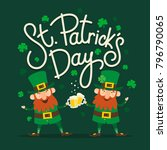 saint patrick's day. set of two ... | Shutterstock .eps vector #796790065