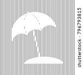 umbrella and sun lounger sign.... | Shutterstock .eps vector #796793815