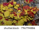 Small photo of Toxic Arsenic Sulfide Minerals, Ruby red Realgar & yellow Orpiment from Peru