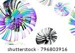pinstripe sea shell. curl... | Shutterstock .eps vector #796803916