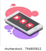 isometric concept with mobile...   Shutterstock .eps vector #796805812