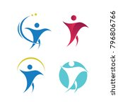 health human set company people ... | Shutterstock .eps vector #796806766