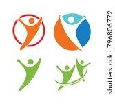 health human set company people ... | Shutterstock .eps vector #796806772