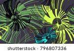 pinstripe sea shell. curl... | Shutterstock .eps vector #796807336