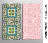 vertical seamless patterns set  ... | Shutterstock .eps vector #796808326