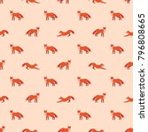 cute seamless pattern with red... | Shutterstock .eps vector #796808665