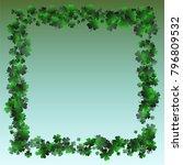 clover green is a confetti... | Shutterstock .eps vector #796809532