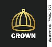 crown royal king vector logo... | Shutterstock .eps vector #796814506