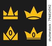 crown set royal king vector... | Shutterstock .eps vector #796814542