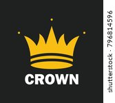 crown royal king vector logo... | Shutterstock .eps vector #796814596