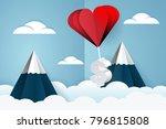 heart air balloon carries...   Shutterstock . vector #796815808