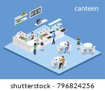 isometric 3d illustration... | Shutterstock . vector #796824256