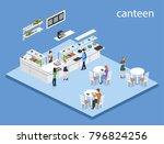 isometric 3d illustration... | Shutterstock . vector #796824256