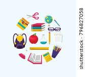 back to school design | Shutterstock .eps vector #796827058
