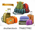 travel. bag  backpack  suitcase | Shutterstock .eps vector #796827982