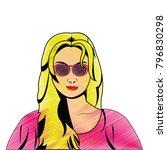 retro woman design | Shutterstock .eps vector #796830298