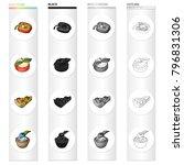 stuffed peppers  a vegetarian...   Shutterstock .eps vector #796831306