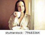 portrait of young girl standing ... | Shutterstock . vector #79683364