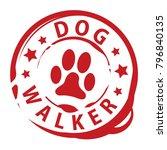Dog Walker Rubber Stamp