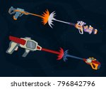 shooting from space weapons.... | Shutterstock .eps vector #796842796