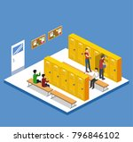 isometric 3d illustration... | Shutterstock . vector #796846102