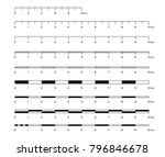 map scale line. mathematical... | Shutterstock .eps vector #796846678