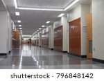 empty hall during the classes... | Shutterstock . vector #796848142