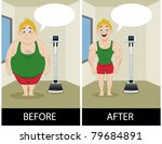 male before and after weight... | Shutterstock .eps vector #79684891