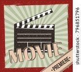 movie film premiere retro... | Shutterstock .eps vector #796851796