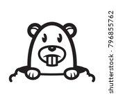 happy groundhog day... | Shutterstock .eps vector #796855762