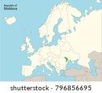 europe map  moldova | Shutterstock .eps vector #796856695