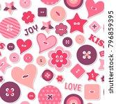 seamless pattern happy...   Shutterstock .eps vector #796859395