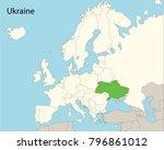 europe map  ukraine  | Shutterstock .eps vector #796861012