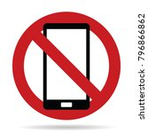 cell phone use prohibited sign   Shutterstock .eps vector #796866862