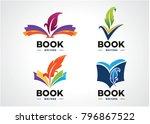 book writer logo set template... | Shutterstock .eps vector #796867522