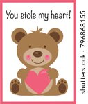 you stole my heart valentine | Shutterstock .eps vector #796868155