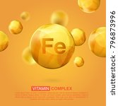 vitamin fe gold icon. retinol... | Shutterstock .eps vector #796873996