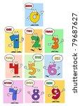 funny friendly comics numbers... | Shutterstock . vector #79687627