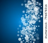 winter border with white... | Shutterstock .eps vector #796878316