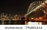 harbour bridge and skyline at... | Shutterstock . vector #796881616