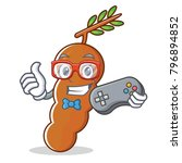 gamer tamarind mascot cartoon... | Shutterstock .eps vector #796894852