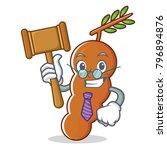 judge tamarind mascot cartoon... | Shutterstock .eps vector #796894876