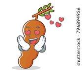 in love tamarind mascot cartoon ... | Shutterstock .eps vector #796894936