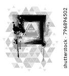 t shirt design square grunge...   Shutterstock .eps vector #796896502