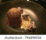 chocolate sphere  vanilla ice... | Shutterstock . vector #796898536