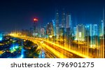 the network light came out from ... | Shutterstock . vector #796901275